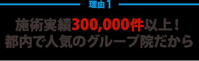 施術実績300,000件以上!都内で人気のグループ院だから